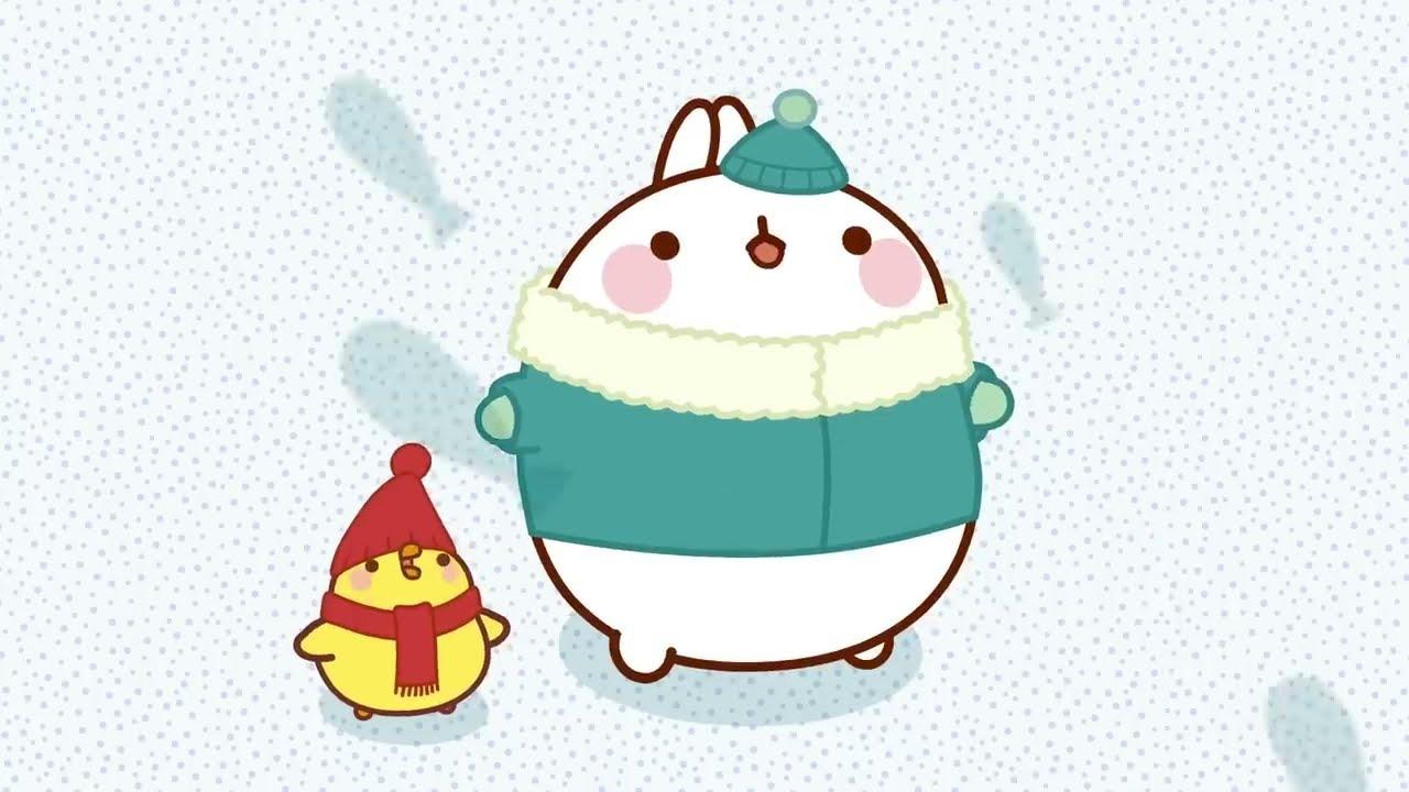 MOLANG 🎿 Winter Holidays #3 🎿   Molang & Piu Piu are FACING THE SNOW   Cartoons for Kids