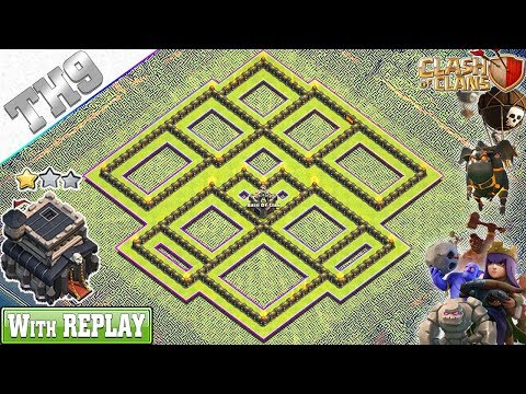 NEW BEST TH9 Base 2019 With REPLAY | TH9 Trophy Base With Copy Link - Clash Of Clans