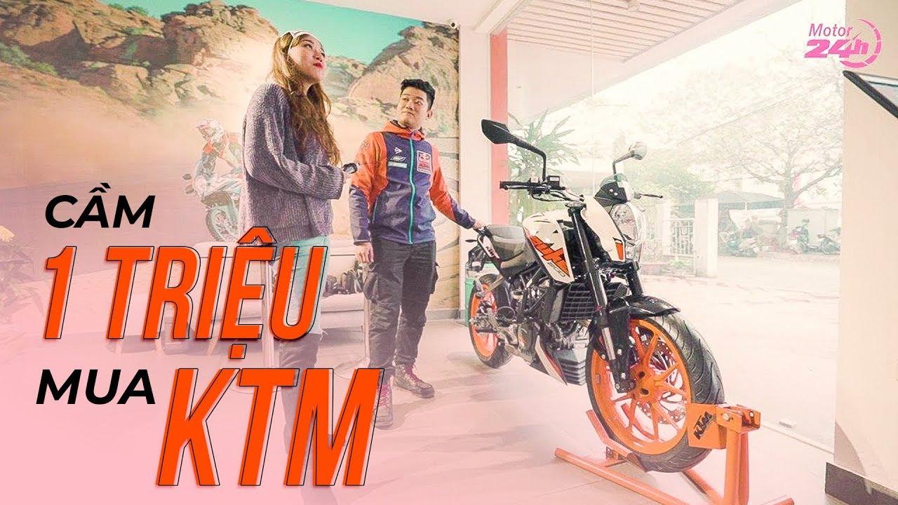 Gái xinh cầm 1 TRIỆU đi mua xe PHÂN KHỐI LỚN tại hãng KTM và cái kết SẤP MẶT…| Motor24h