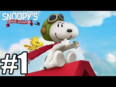 The Peanuts Movie : Snoopy's Grand Adventure - Gameplay Walkthrough Part 1 - World 1 [ HD ]