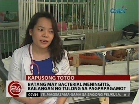 24 Oras: Batang may bacterial meningitis, kailangan ng tulong sa pagpapagamot