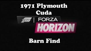 Forza Horizon - Barn Find #1 1971 Plymouth Cuda
