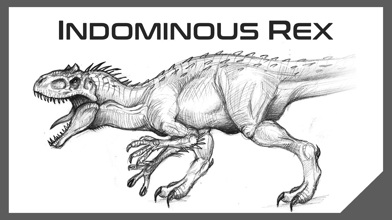 How to draw indominus rex scales jurassic world youtube - How To Draw Jurassic World Indominus Rex