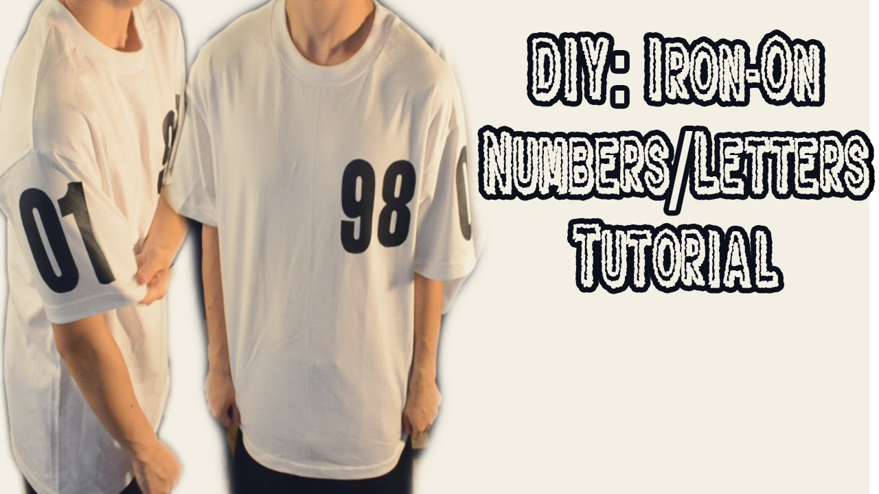 Diy iron on letters numbers tutorial kad customs 24 for Diy iron on letters for clothing