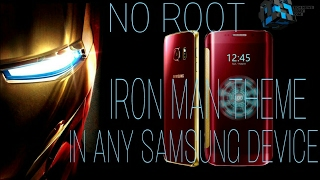 Samsung Galaxy S6 Edge Iron Man Theme in Any Samsung Devise(No Root)!!