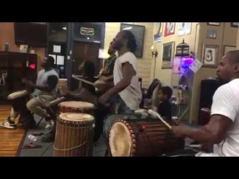West African drummers all over Macru @ Djibril Camara's La Vie dance class