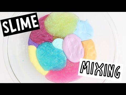 MIXING 18 DIY SLIMES - Slime Collection
