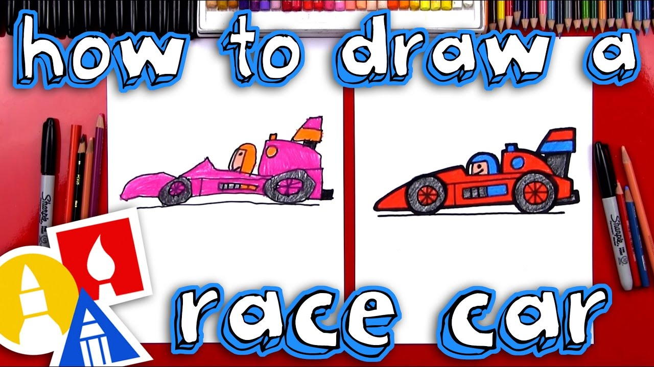 How To Draw A Race Car (For Young Artists) - YouTube