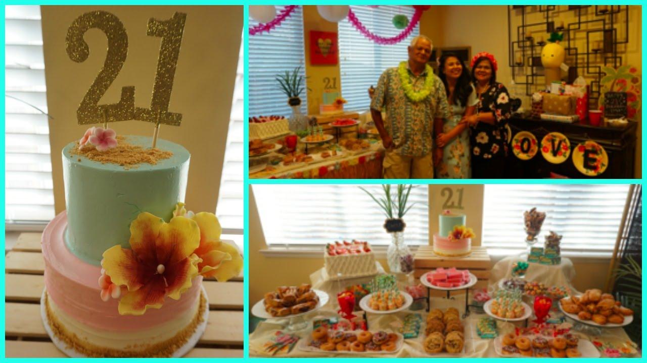 love u0027s 21st birthday hawaiian luau theme youtube