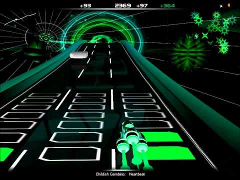 Childish Gambino - Heartbeat (Clean) (Audiosurf)