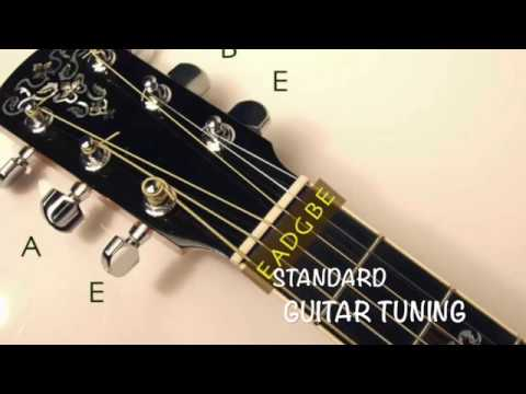 standard guitar tuning eadgbe youtube. Black Bedroom Furniture Sets. Home Design Ideas
