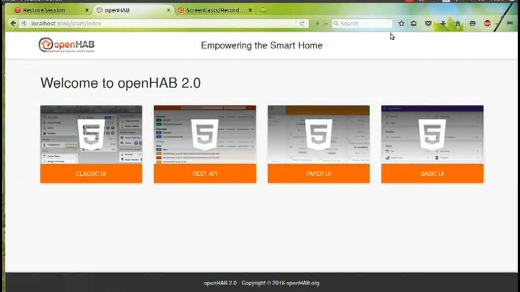 Air Project 2015-2016 - Integration of UPnP camera on the OpenHab interface