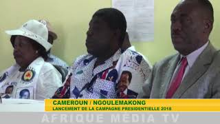 LANCEMENT CAMPAGNE PRESIDENTIELLE  NGOULEMAKONG
