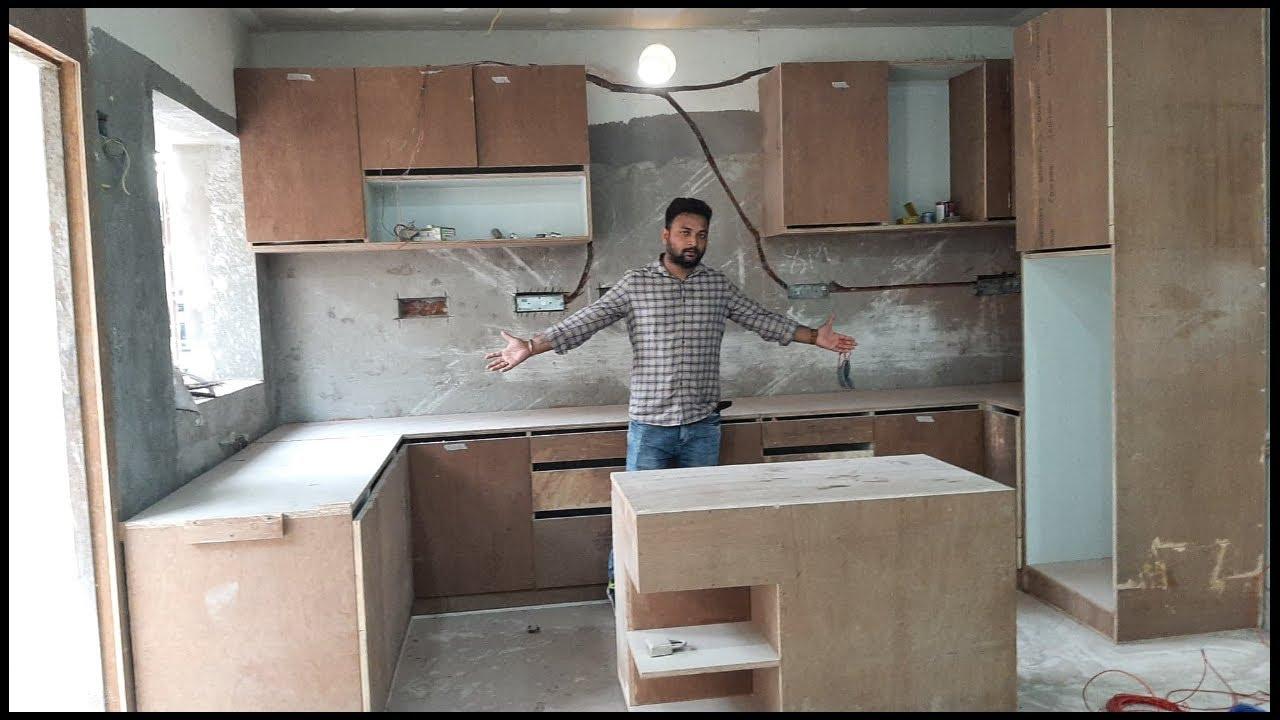 Modular kitchen Design ideas 9   open Kitchen making process video in  Hindi.