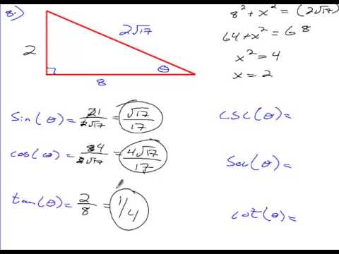 Algebra 2 Chapter 13 Section 1 Homework - Right Triangle ...