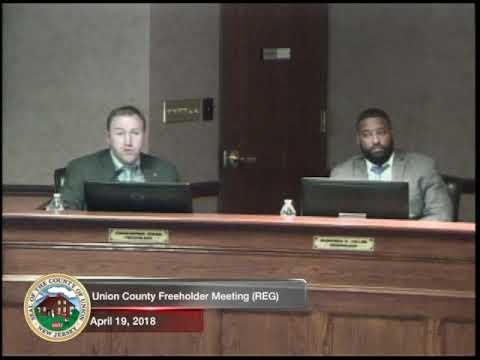Union County - Freeholder Meeting April 19,2018 ( REG) - Union County NJ