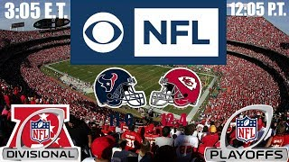 2019 NFL Playoffs - AFC Divisional Round Weekend (Sunday) - (Prediction): Texans at Chiefs