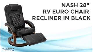 "Nash 28"" RV Euro Chair Recliner in Black"