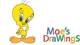 Looney Tunes Tweety How to draw and coloring fun new Hd video for kids