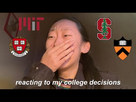 COLLEGE DECISION REACTIONS 2020!!! (princeton, Harvard, Mit, Stanford)