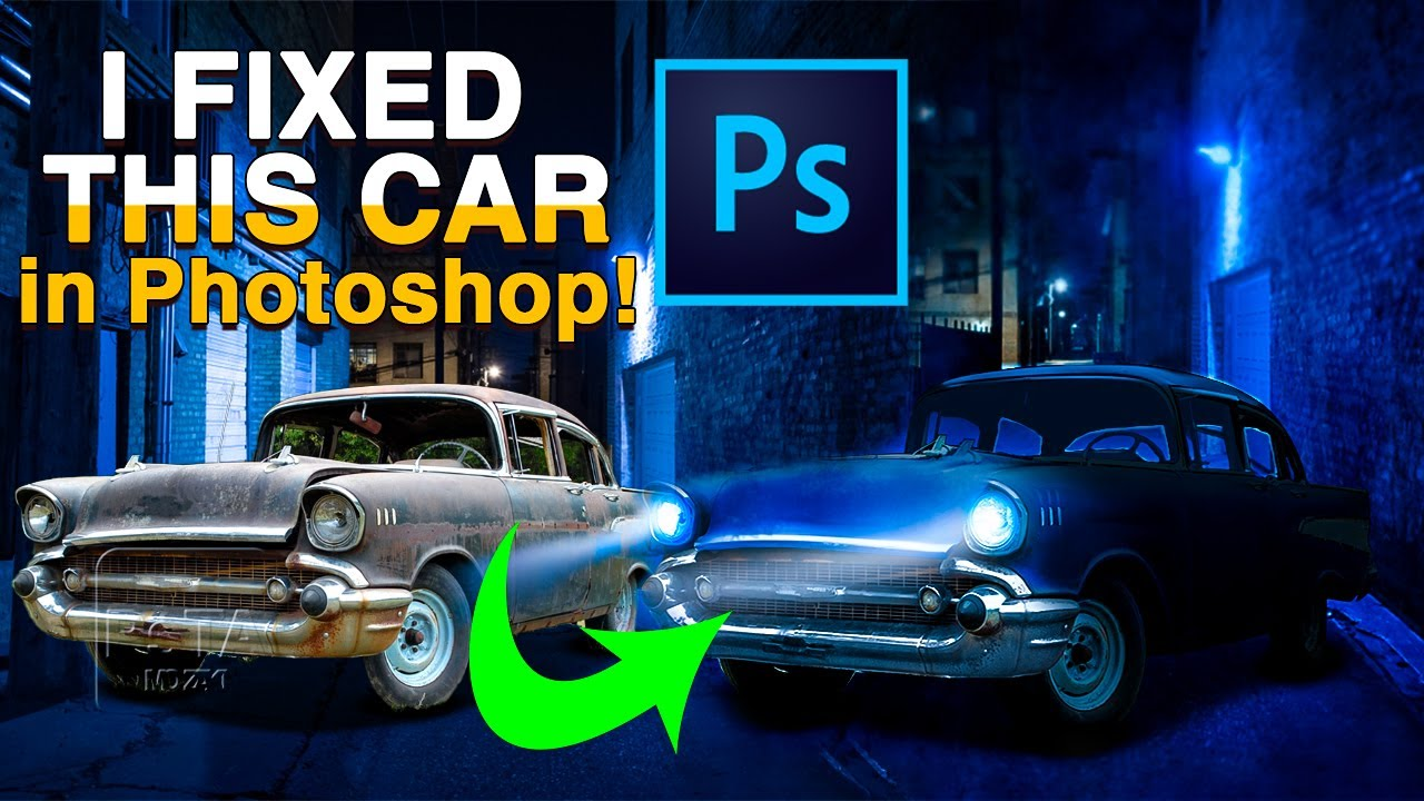 I FIXED this car in Photoshop! (Photoshop Tutorials)