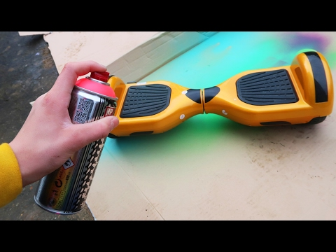 SPRAY PAINTING MY HOVERBOARD!!