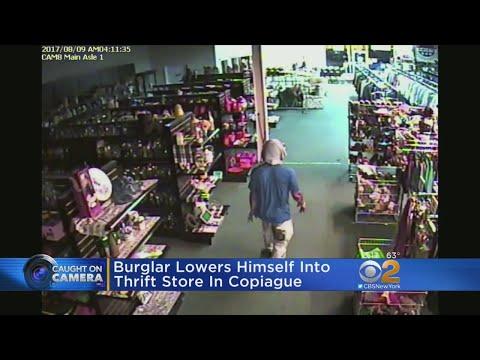 Burglar Lowers Himself Into Thrift Store In Copiague