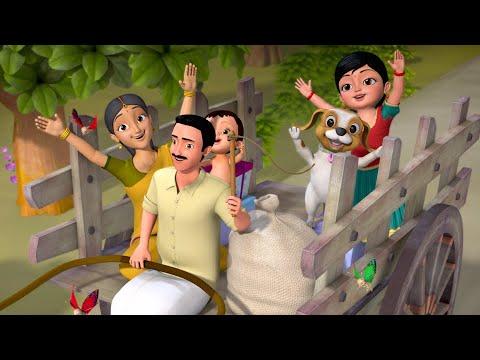Download Navu Santege Hoguttiddeve - Wheels on the cart | Kannada Rhymes for Children | Infobells