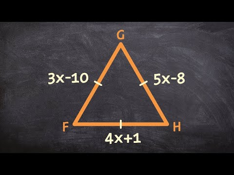 How to find the measure of each side of an equilateral triangle