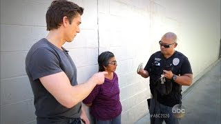 Police Confront Woman Selling Alleged Counterfeit Drugs on the Street