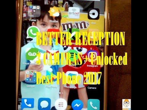 BETTER RECEPTION UNLOCKED GSM phone, Android, 3 cameras, under $200 AT&T Crickett Wireless