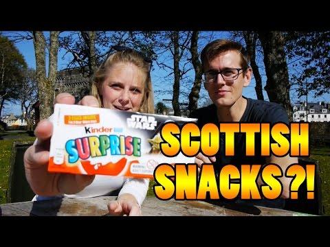 AMERICANS TASTE TEST SCOTTISH SNACKS - Travel vlog 112 [Isle Of Lewis]