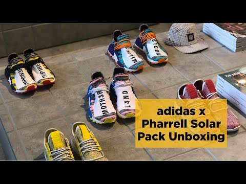 Unboxing the adidas x Pharrell Solar Hu Pack Y U SO EXPENSIVE!?