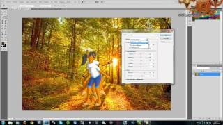 Как добавить фон для фотографии в фотошопе