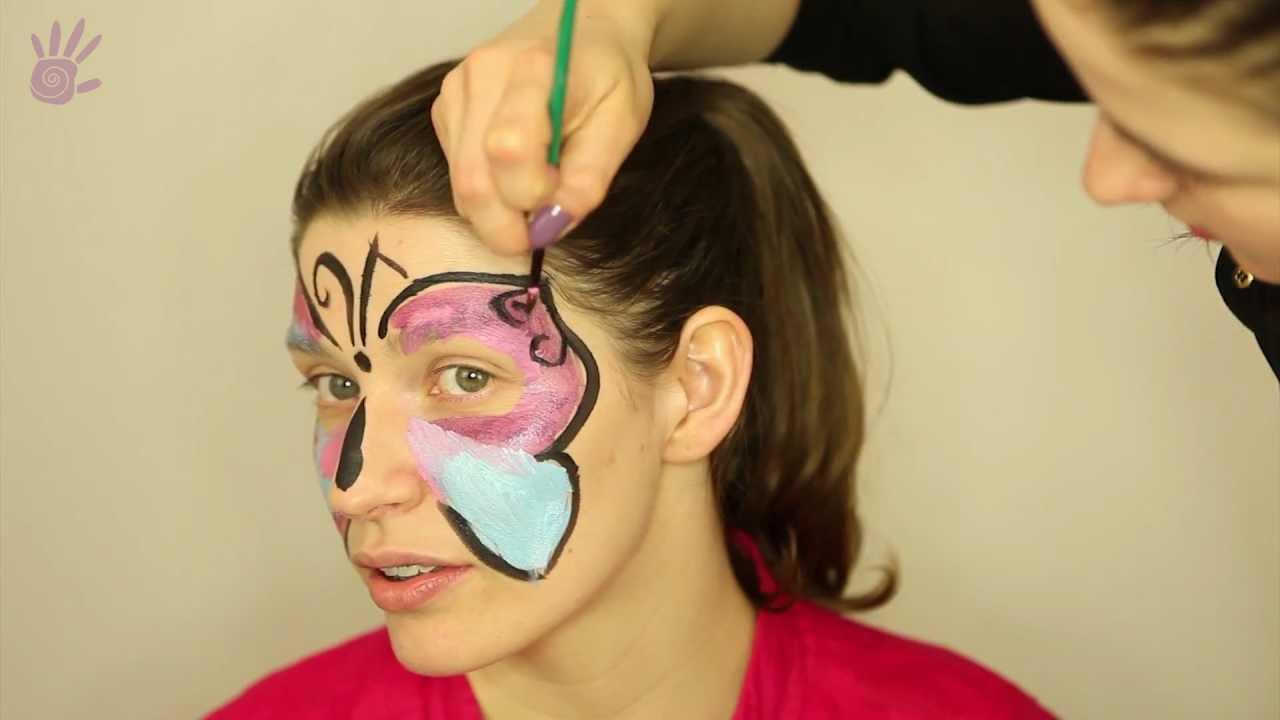 Malowanie Buziek Malowanie Twarzy 1 Motylek Youtube