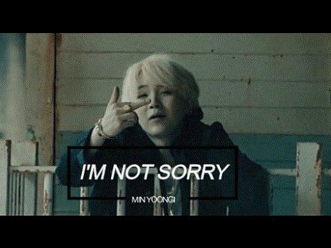 BTS FMV | Min Yoongi - I'm Not Sorry