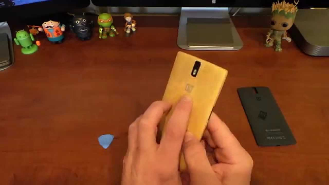 huge selection of 1cb29 c6c0a OnePlus One Bamboo Swap Cover Install