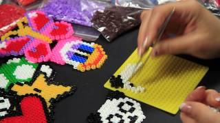 - Video Tutorial - Panda - Hama Beads Pyssla Perline Midi a termofusione
