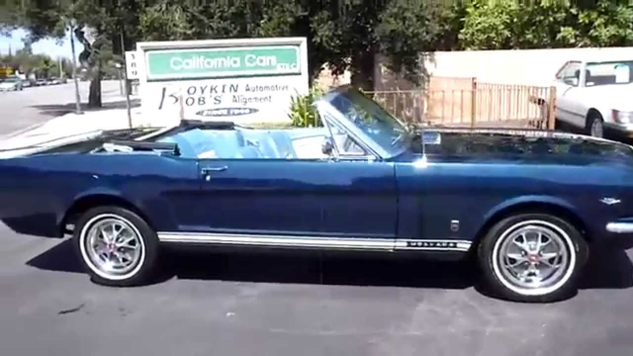 1966 Mustang Covertible - YouTube