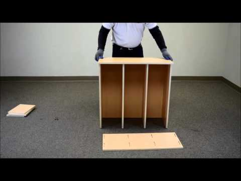 Cube organizer assembly with no tools!