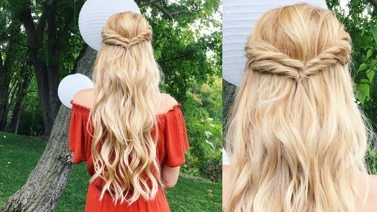 wedding guest hair tutorial | easy double twist