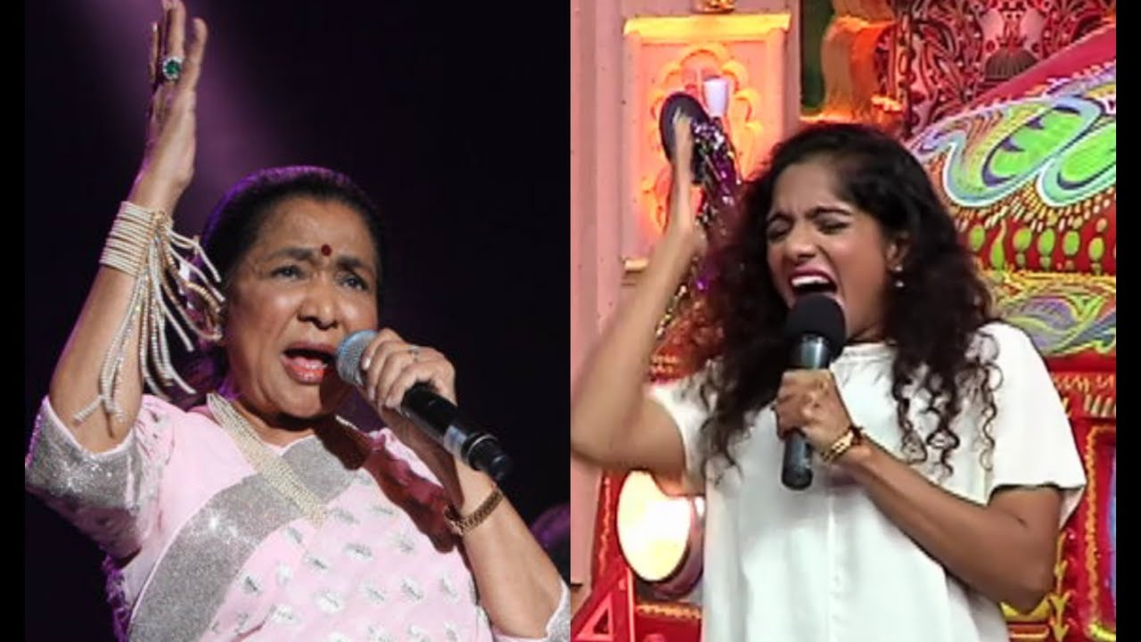 Johnny Lever Daughter Jamie Lever Mimicry Asha Bhosle On Comedy Dangal