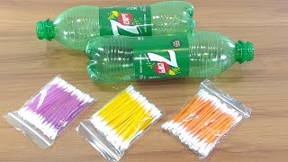 COTTON BUDS & WASTE PLASTIC BOTTLE CRAFTING | BEST OUT OF WASTE | REUSE IDEA