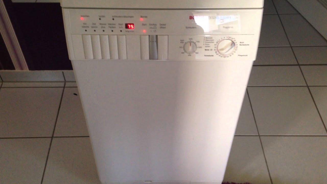 Bosch exclusiv t a wok waschmaschine youtube