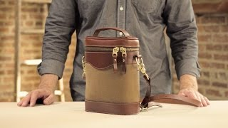 The Whiskey Tote | Waxed Canvas & Leather Whiskey Carrier