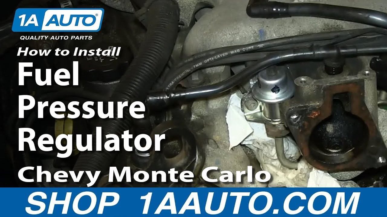 hight resolution of how to install replace fuel pressure regulator 3 4l chevy monte carlo