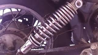 Replacing spring on virago 250 shock absorber