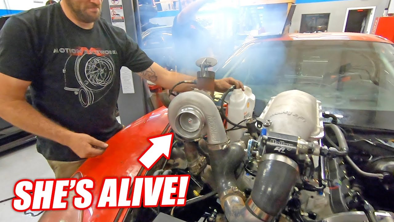 The Auction Corvette COMES TO LIFE w/it's NEW Version 3 0 Junkyard Engine!  (Sounds like Freedom)