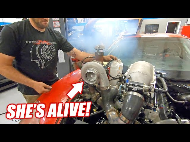 The Auction Corvette COMES TO LIFE w/its NEW Version 3.0 Junkyard Engine! (Sounds like Freedom)