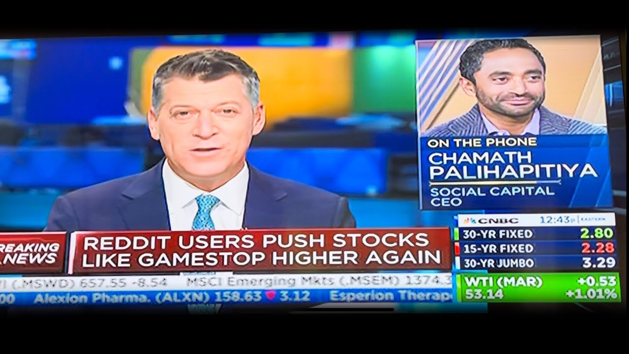 Chamath Addresses Lack of Transparency with Big Hedge Funds on CNBC & Reddit Users Waging War